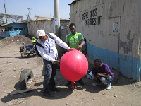 Baloon filling for mapping